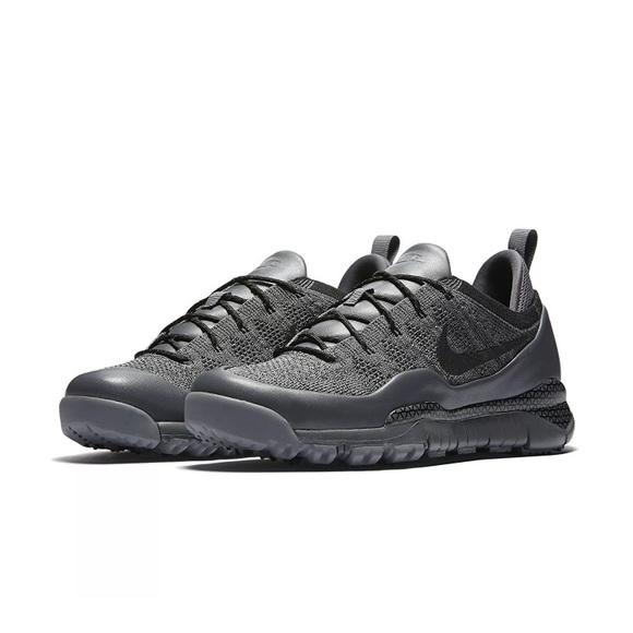 newest 74f52 23430 Mens Nike Lupinek Flyknit Low Black Grey Sneakers